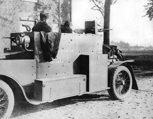 Antwerp Photograph - Belgian Armored Car by Underwood Archives
