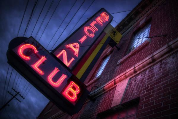 Neon Signage Photograph - Belgian Club by Bryan Scott