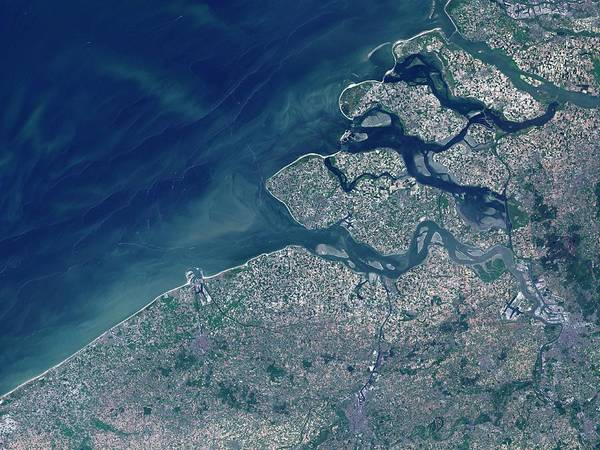 Antwerp Photograph - Belgian-dutch Coast by Nasa/science Photo Library