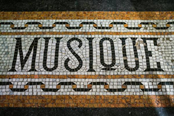 Belgian Photograph - Belgium, Bruges Music Shop Street Mosaic by Walter Bibikow