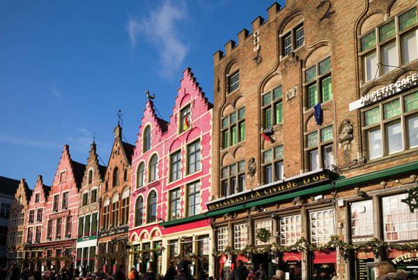 Belgian Photograph - Belgium, Bruges The Markt, Market by Walter Bibikow
