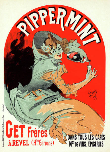 Wall Art - Painting - Belgium Poster For Pippermint. Chéret, Jules 1836-1932 by Liszt Collection