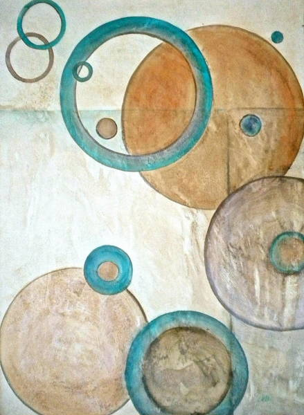 Umber Painting - Belief In Circles by Debi Starr