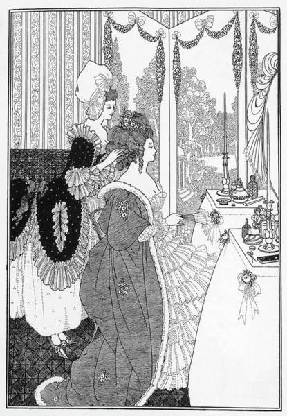 Beardsley Drawing - Belinda At Her Toilette by Mary Evans Picture Library