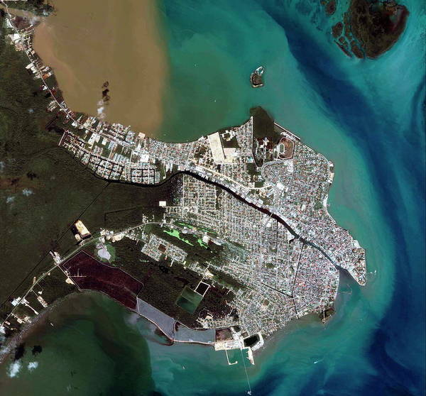 Belize Photograph - Belize City by Geoeye/science Photo Library