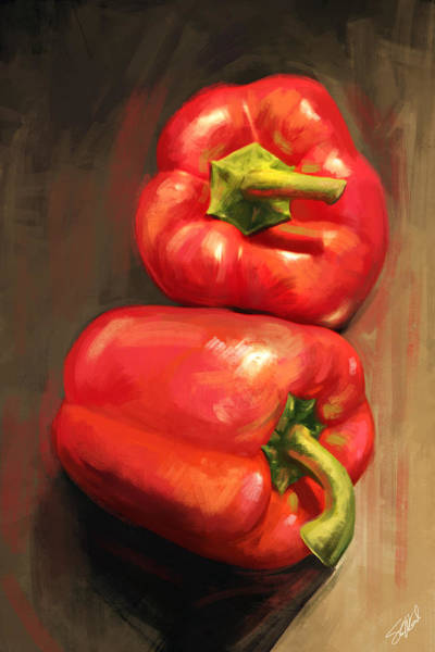 Digital Art - Bell Peppers by Steve Goad