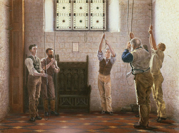 Bell Painting - Bell Ringers by Henry Ryland