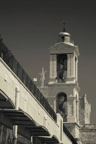 Bethlehem Wall Art - Photograph - Bell Tower Of The Church by Panoramic Images