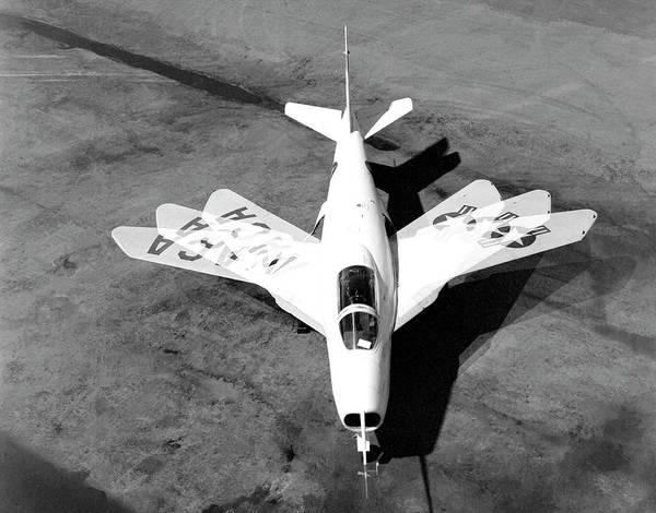 X Wing Photograph - Bell X-5 Experimental Aircraft by Nasa Photo / Naca/nasa