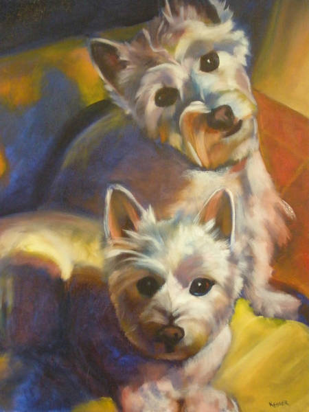 Wall Art - Painting - Bella And Zoey by Kaytee Esser