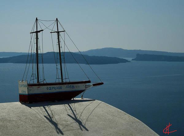 Photograph - Bella Santorini Ancient Boat Greece by Colette V Hera  Guggenheim