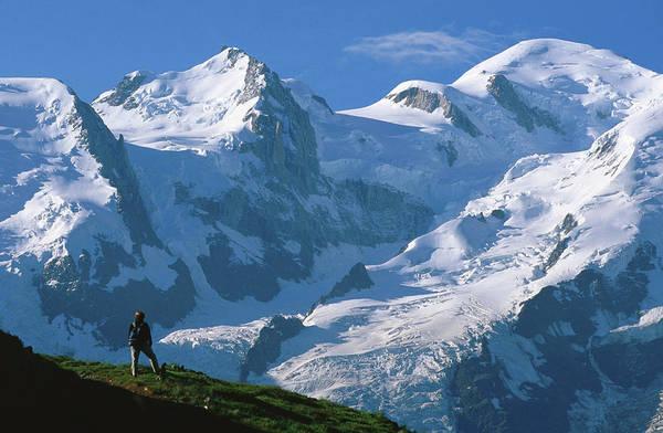 Chamonix Wall Art - Photograph - Bellachat View Of Mt Blanc by John Elk