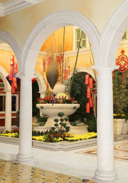 Photograph - Bellagio Chinese Display by Michael Hope