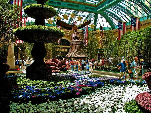 Photograph - Bellagio Gardens by Ricardo J Ruiz de Porras