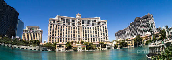 Bellagio Hotel Photograph - Bellagio Resort And Casino Panoramic by Edward Fielding
