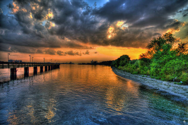 Belle Isle Photograph - Belle Isle Pier Sunset Detroit Mi by A And N Art