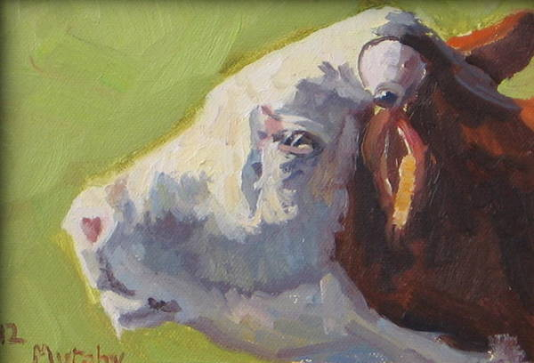 Hereford Bull Painting - Bellowing Bull by Michelle Murphy-Ferguson