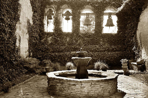 Photograph - Bells At Mission San Juan Capistrano California 1925 by California Views Archives Mr Pat Hathaway Archives