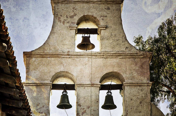 California Mission Photograph - Bells Of Mission San Diego by Joan Carroll