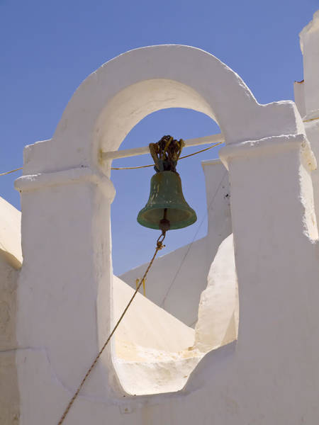 Photograph - belltower of Chapel on Mykonos by Brenda Kean