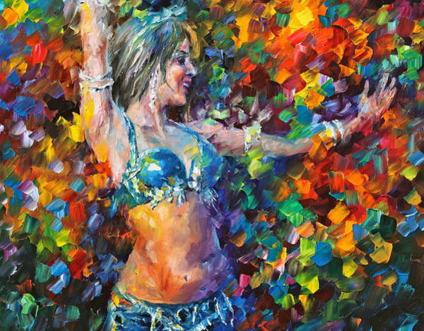 Belly Dancing Painting - belly dancer NEW by Leonid Afremov