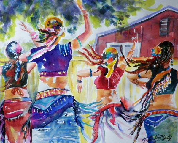 Belly Dancing Painting - Belly Dancers Delight Sold by Therese Fowler-Bailey