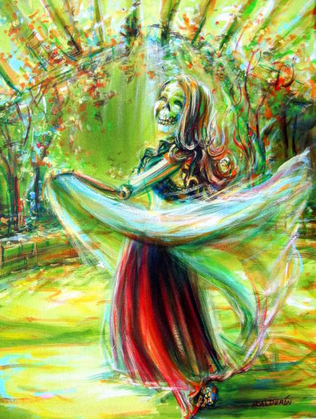 Belly Dancing Painting - Belly Dancing Beauty by Heather Calderon