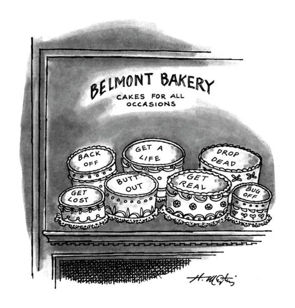 1993 Drawing - Belmont Bakery Cakes For All Occasions by Henry Martin