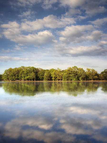 End Of Summer Photograph - Belmont Lake Reflections by Vicki Jauron