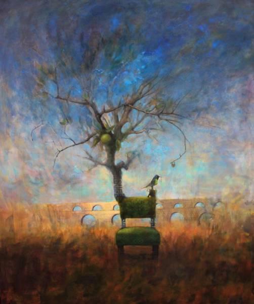 Yellow Ochre Painting - Belonging by Joshua Smith