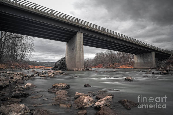 Upstate New York Wall Art - Photograph - Below The Bridge  by Michael Ver Sprill