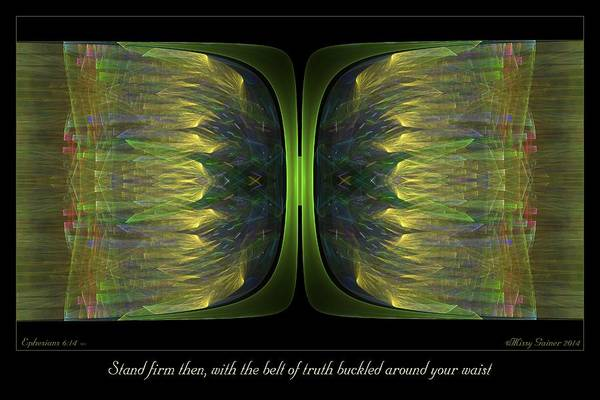 Digital Art - Belt Of Truth by Missy Gainer