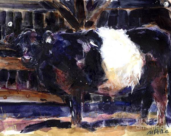 Galloway Wall Art - Painting - Beltie by Molly Poole