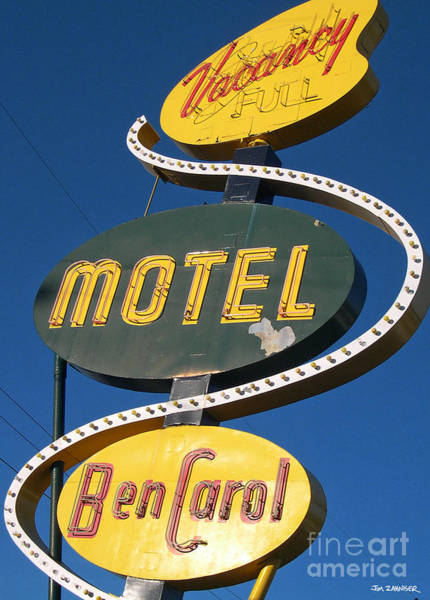 Seattle Digital Art - Ben Carroll Motel by Jim Zahniser
