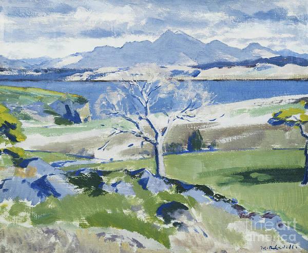 Twentieth Century Wall Art - Painting - Ben Cruachan From Achnacraig by Francis Campbell Boileau Cadell