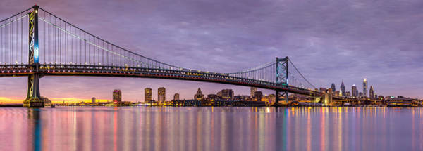 Photograph - Ben Franklin Bridge And Philadelphia Skyline by Mihai Andritoiu