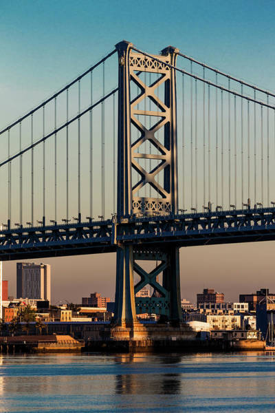 Camden Photograph - Ben Franklin Bridge Over Delaware River by Panoramic Images