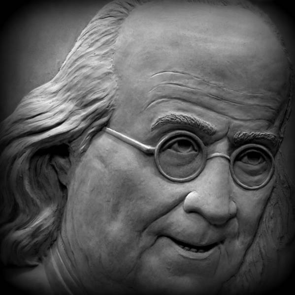 Photograph - Ben Franklin Holga Style by Richard Reeve