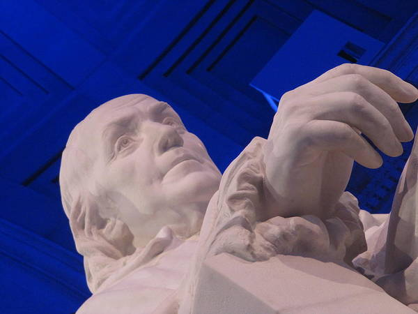 Photograph - Ben Franklin In Blue I by Richard Reeve