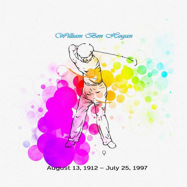 Lpga Digital Art - Ben Hogan by Don Kuing