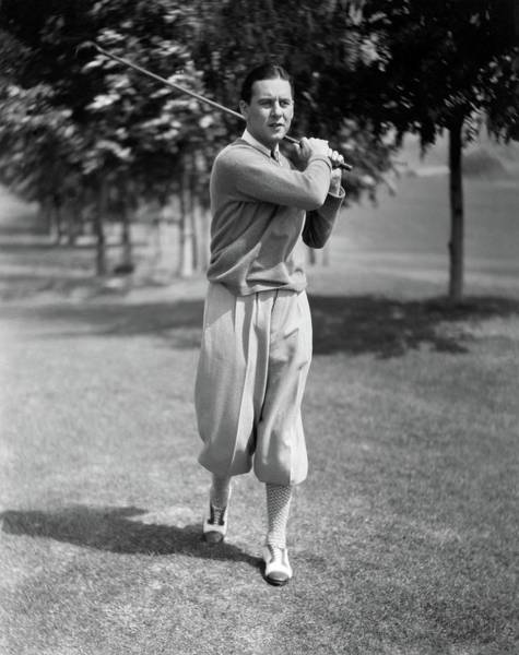 Golf Club Photograph - Ben Lyon Playing Golf by Artist Unknown