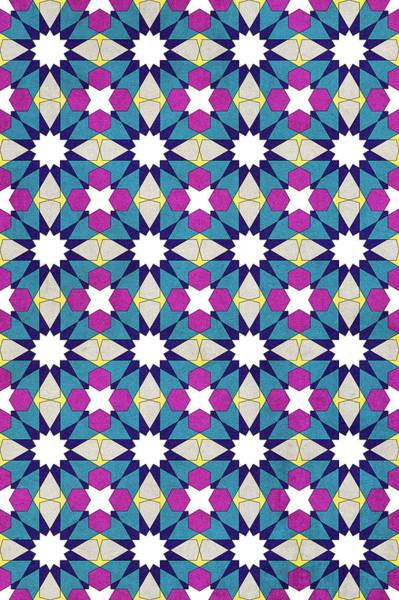 Moroccan Digital Art - Ben Yusuf Madrasa Geometric Pattern 1 by Hakon Soreide