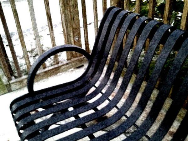 Park Bench Mixed Media - Bench by Jeannie Ferrara