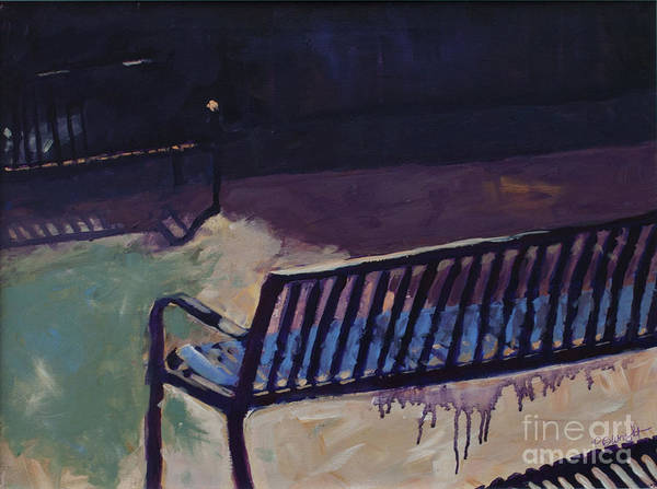 Painting - Bench Mark Painting Only by Paulette B Wright
