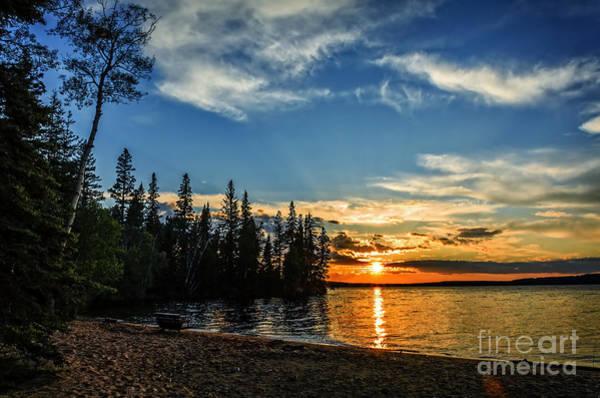 Waskesiu Photograph - Beautiful Sunset At Waskesiu Lake by Viktor Birkus