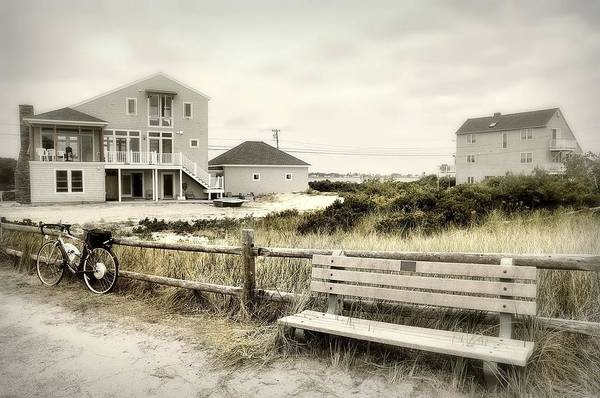 Wall Art - Photograph - Bench'n Bike by Diana Angstadt