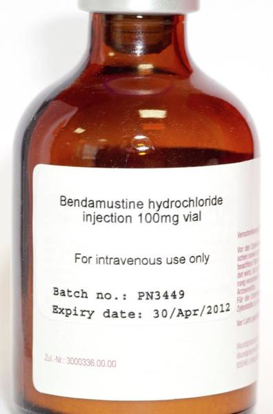 Wall Art - Photograph - Bendamustine Anti-cancer Drug by Dr P. Marazzi/science Photo Library