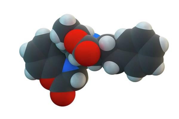 Molecular Wall Art - Photograph - Bendamustine Cancer Drug Molecule by Ella Maru Studio / Science Photo Library