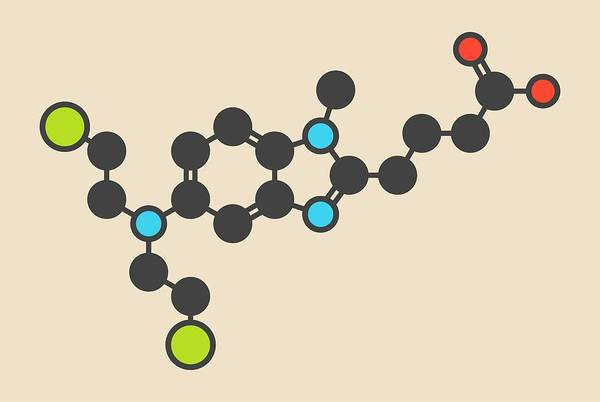 Chronic Wall Art - Photograph - Bendamustine Cancer Drug Molecule by Molekuul