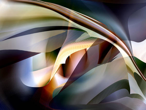 Digital Art - Bending Abstract by rd Erickson